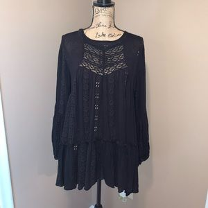 NWT:  Free people embroidered lace tunic
